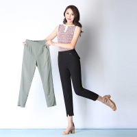 Thin film summer with nine minutes of pants ice silk cotton and linen split feet pants big yards leisure female trousers