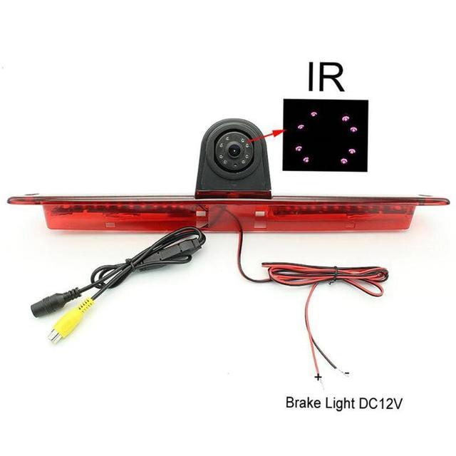 VODOOL coche 3rd luz de freno cámara de visión trasera impermeable IR visión nocturna aparcamiento cámara de marcha atrás para VW Crafter/Mercedes Sprinter