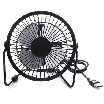 High Quality 4 Inch Cooling Ventilation Fan USB Solar Powered Panel Iron Fan For Home Office Outdoor Traveling Fishing 4