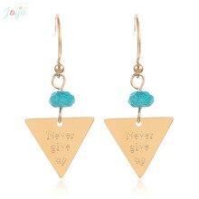 Badu Vintage Gold Stainless Steel Earrings For Women Geometric Triangle Drop Earrings Heart Statement Earrings Jewelry Gift цена 2017