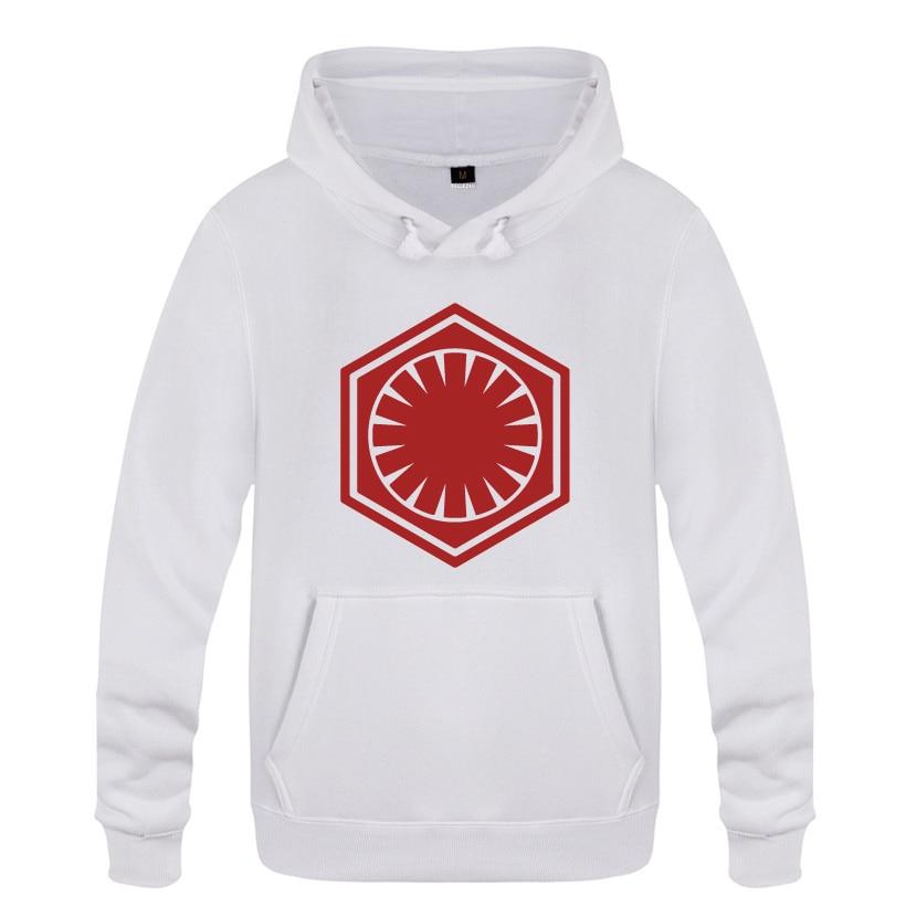 Enthousiast De Kracht Wekt Eerste Orde Insignia-star Wars Hoodies Mannen 2018 Mannen Trui Fleece Hooded Sweatshirts