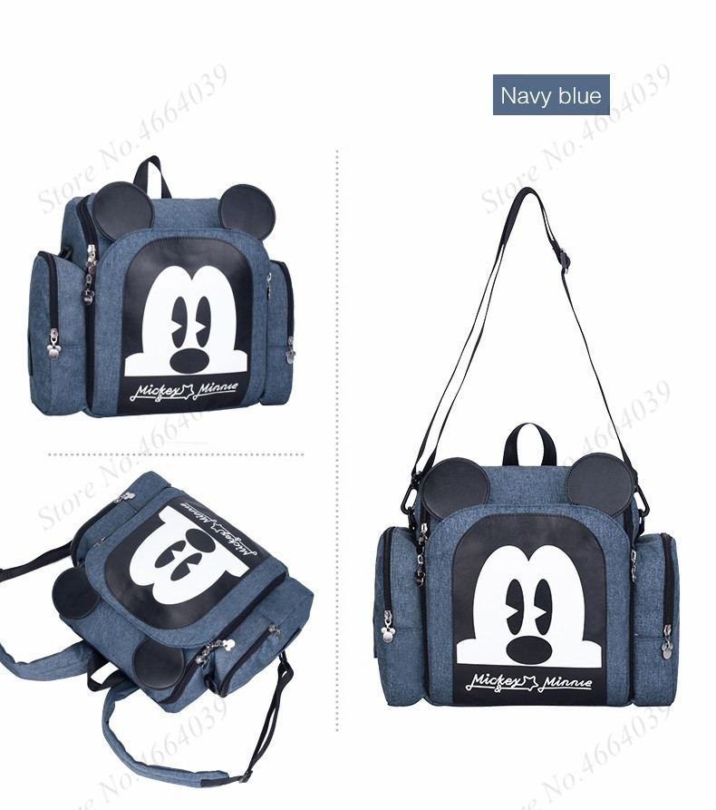 2019 Baby Luiertas Booster Seat Waterdichte Moederschap Rugzak Luiertas Mickey Mouse Verpleging Schoudertas Voor Baby Care 2