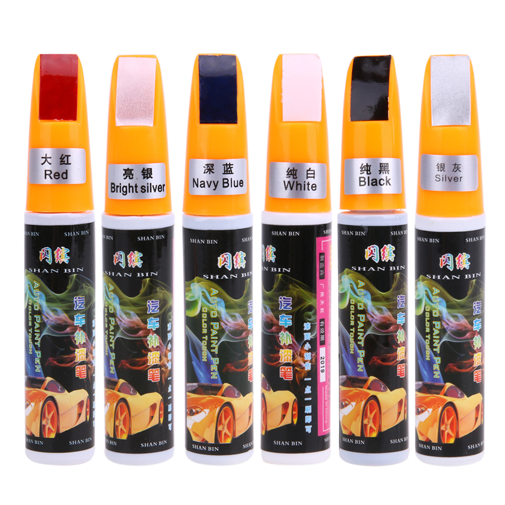 5 Colors Car Scratch Repair Pen Coat Paint Liquid Care Pen Fix It Pro Maintenance Auto Touch Up Scratch Remover Mend Repair Tool