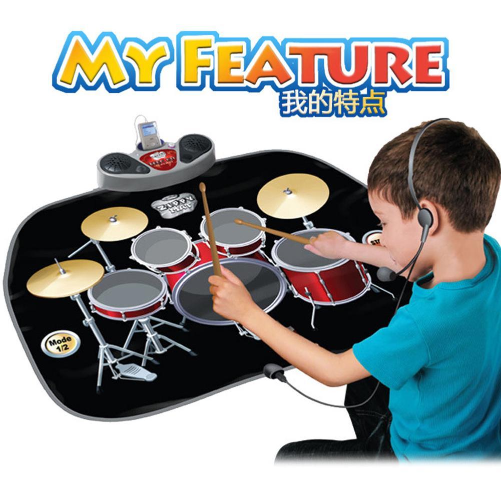 Tambour musique couverture musique danse tapis Piano tambour Combo ensemble cadeau éducatif pour les enfants