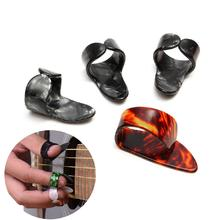 4pcs Guitar Picks Set 1 Thumb+3 Finger Guitar Pick Plectrums Celluloid Sheath for Acoustic Electric Bass Guitar Part Accessories цены онлайн
