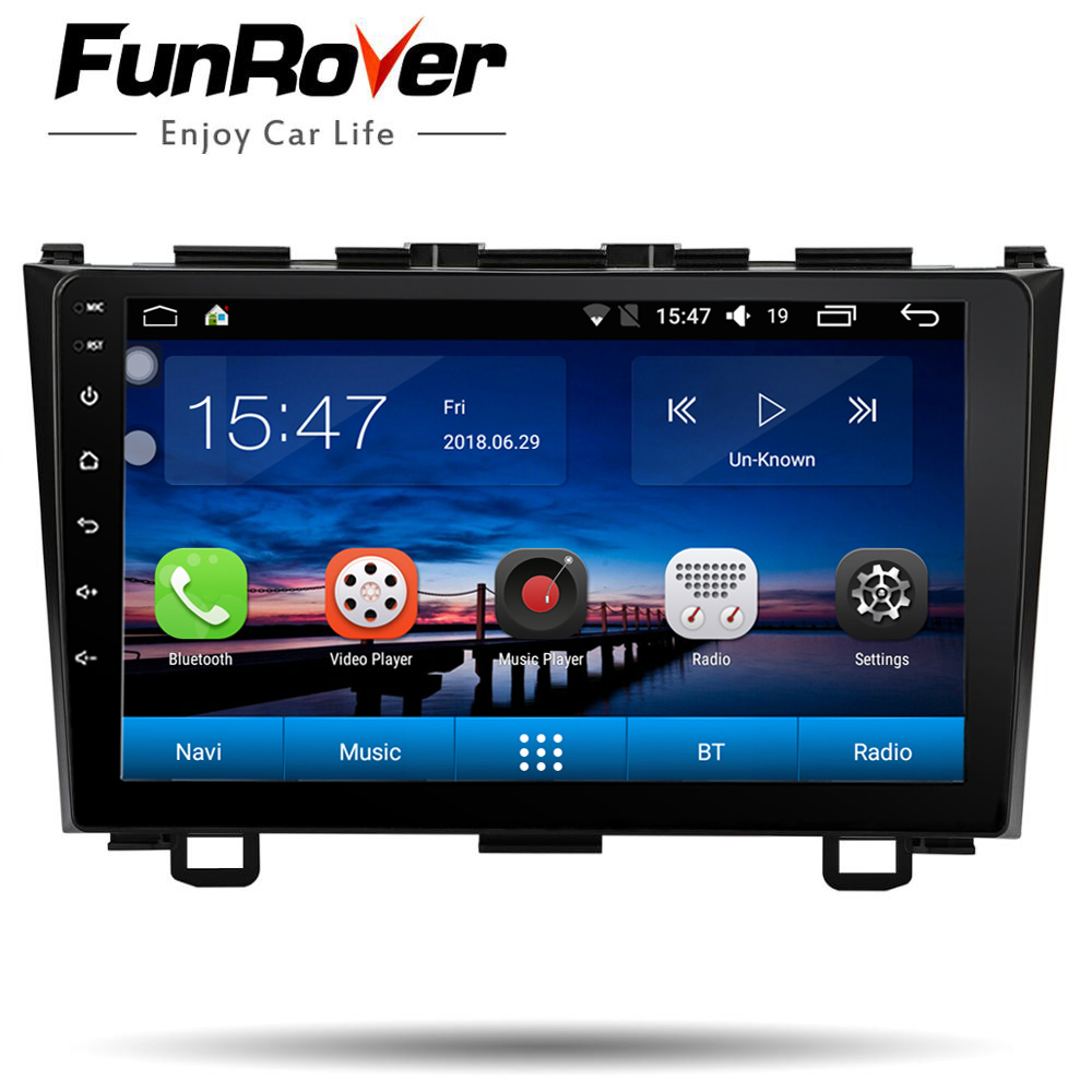 Funrover Car Multimedia player 9 inch Android 8.0 2 Din Radio GPS Navigation For Honda CRV 2006 - 2011 stereo headunit WIFI naviFunrover Car Multimedia player 9 inch Android 8.0 2 Din Radio GPS Navigation For Honda CRV 2006 - 2011 stereo headunit WIFI navi