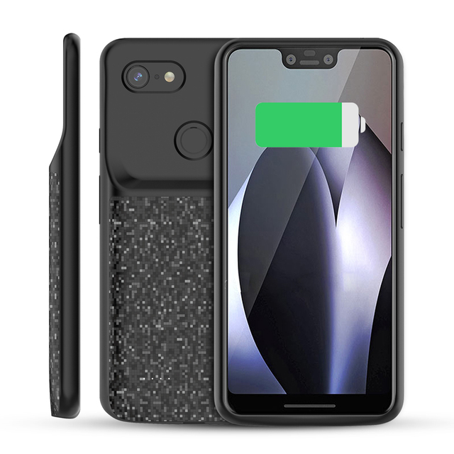 new concept b1ea8 ed720 For Google Pixel 3 XL/Pixel 3 Case 4700mAh Battery Charger Phone Case  Extended Battery Backup Power Bank Protective Phone Cover