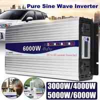 Inverter 12 V/24 V zu AC 220 V 3000/4000/5000/6000 W Spannung transformator reine Sinus Welle Power Inverter Konverter Led-anzeige
