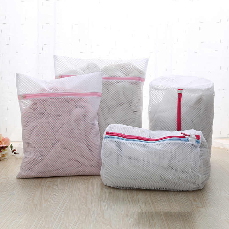 Máquina de Lavar roupas Bra Aid Lavanderia Lingerie Malha Net Wash Bag Bolsa Cesta femme 6 Tamanhos