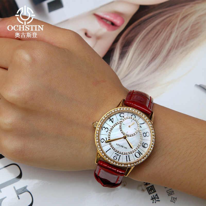 2018 Швейцарский браслет часы для женщин Бизнес Повседневная мода с бриллиантами счетчики Высококачественная кожа сапфир сталь Часы