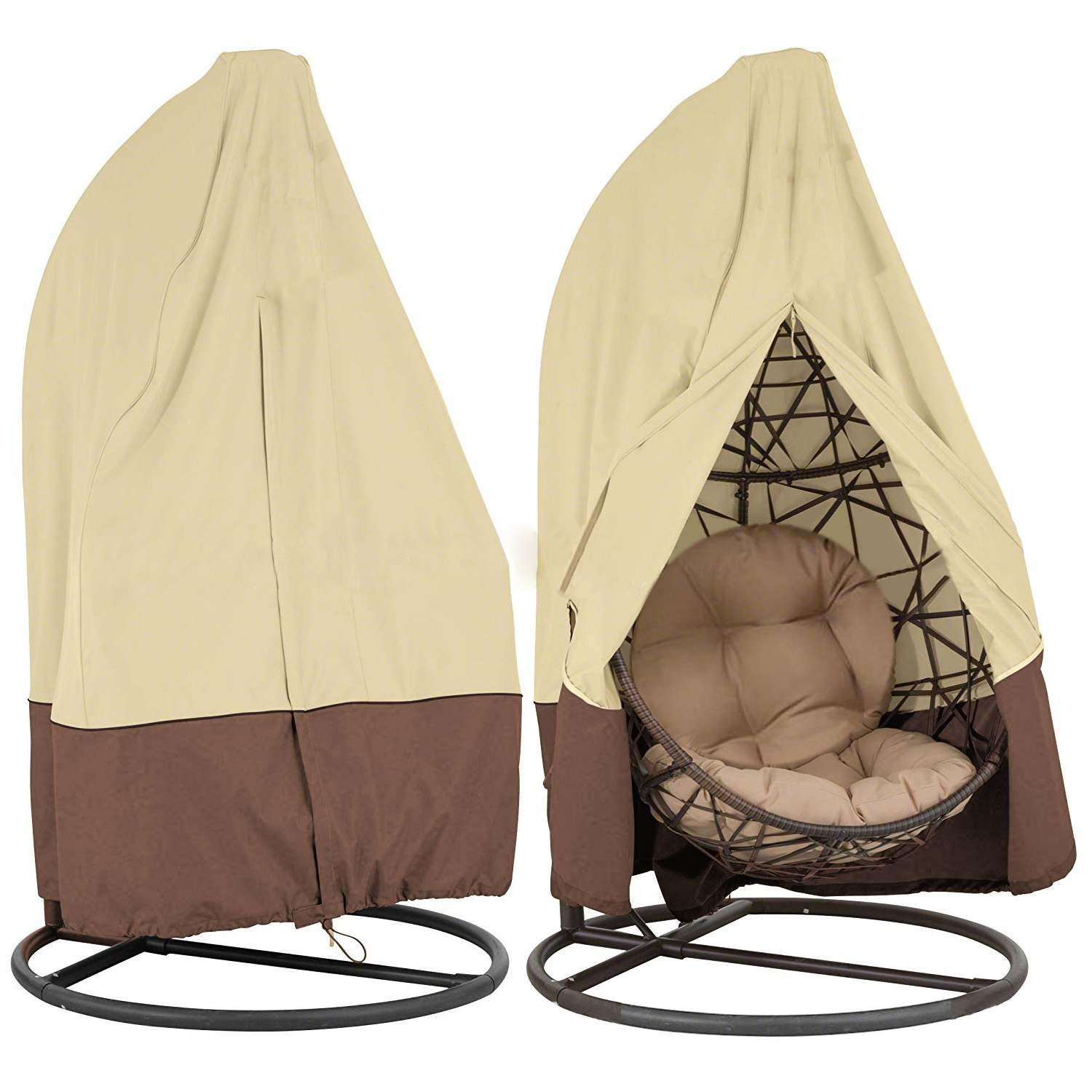 Outdoor Patio Hanging Chair Cover Wicker Egg Swing Chair Covers
