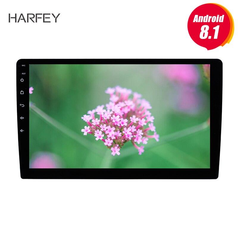 Harfey 2Din Android 7,1/8,1 10,1 сенсорный универсальный автомобильный Радио GPS; Мультимедийный проигрыватель 1 ГБ 4 х ядерный головное устройство с 3g Wi Fi