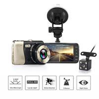 4 Inch Dual Lens Camera HD 1080P Car DVR Vehicle Video Dash Cam Recorder G Sensor