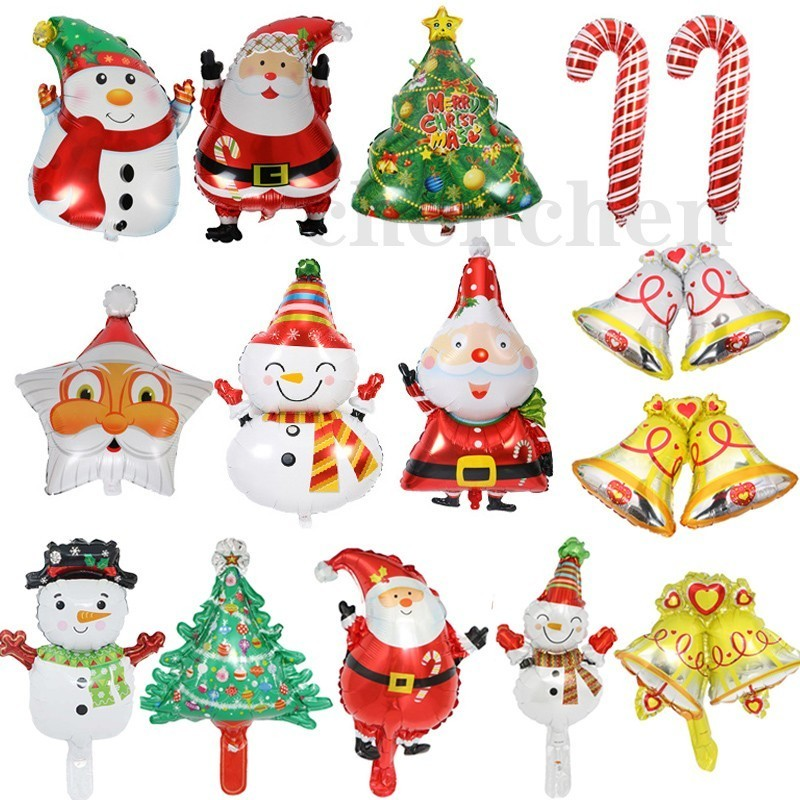 Christmas Party 2019 Clipart.Fengrise Merry Christmas Balloons Santa Claus Foil Baloon