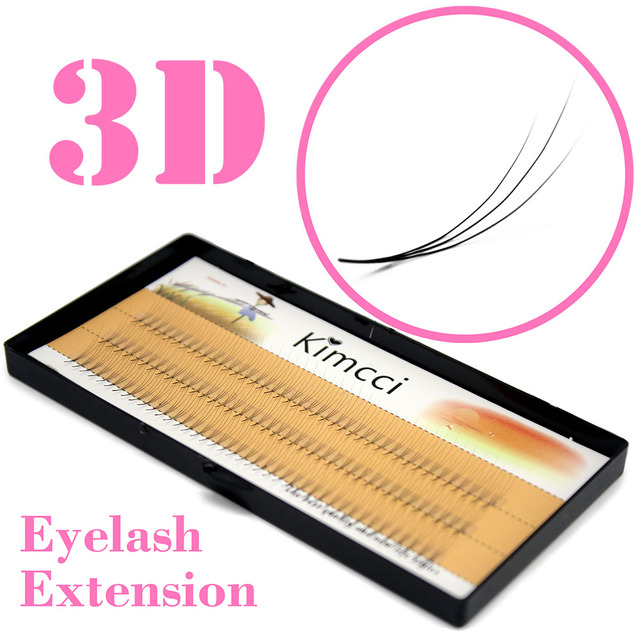 Kimcci Natural 0.07C 3D Individual Cluster Eyelashes Extension Grafting Soft Mink Eyelash Makeup Black False Eye Lashes Cilia