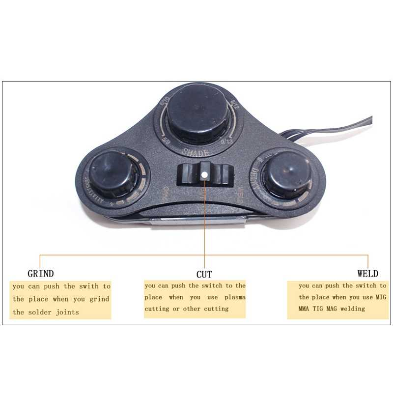 Управление Большой вид Eara 4 Arc сенсор Din5-Din13 Солнечная Авто Затемнение Tig Mig Mma Сварочная маска/Helme фильтр объектив шлем стекло