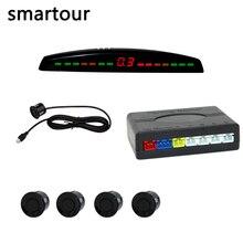Smartour светодио дный дисплей Автомобильный парковочный датчик разноцветный набор 4 системы сенсор s для большинства автомобилей Обратный радар резервный парктроник сенсор s