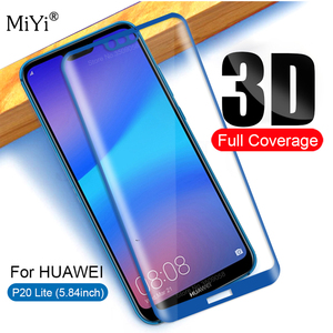 3d curved for huawei p 20 lite glass tempered protective glas on the hauwei p20 light huwei p20 lite screen protector film cover(China)