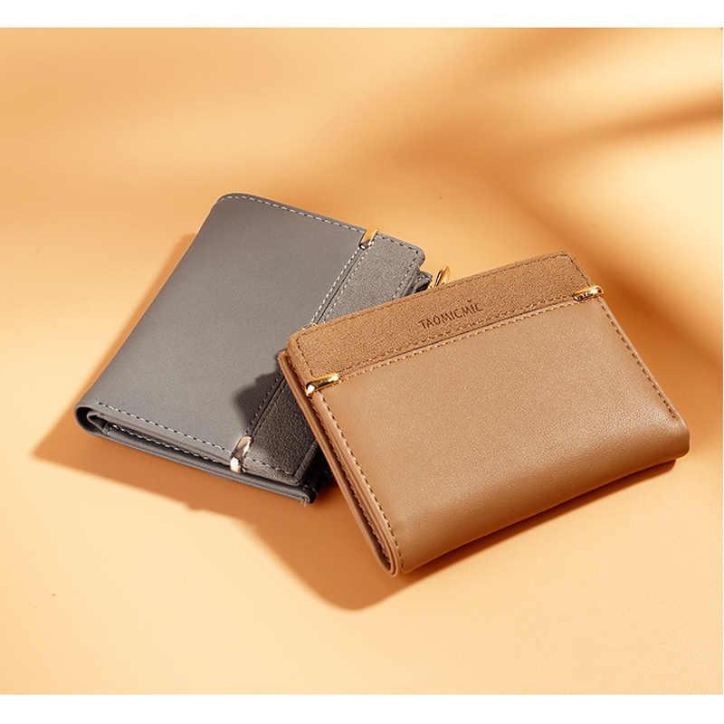 Estilo coreano curto bolsa de moedas moda multi slots titular do cartão pequeno fresco senhora carteira retalhos mini embreagem saco para meninas