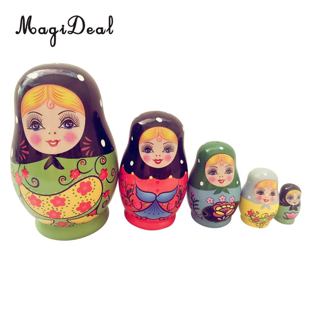 Lot 4 Matryoshka Russian Nesting Dolls Babushka Matreshka Babooshka 3 Pcs