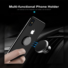 CASEIER Phone Ring bracket Holder For iPhone X XR XS 7 8 6 6S Stand Magnetic Strong Universal CD Finger Samsung