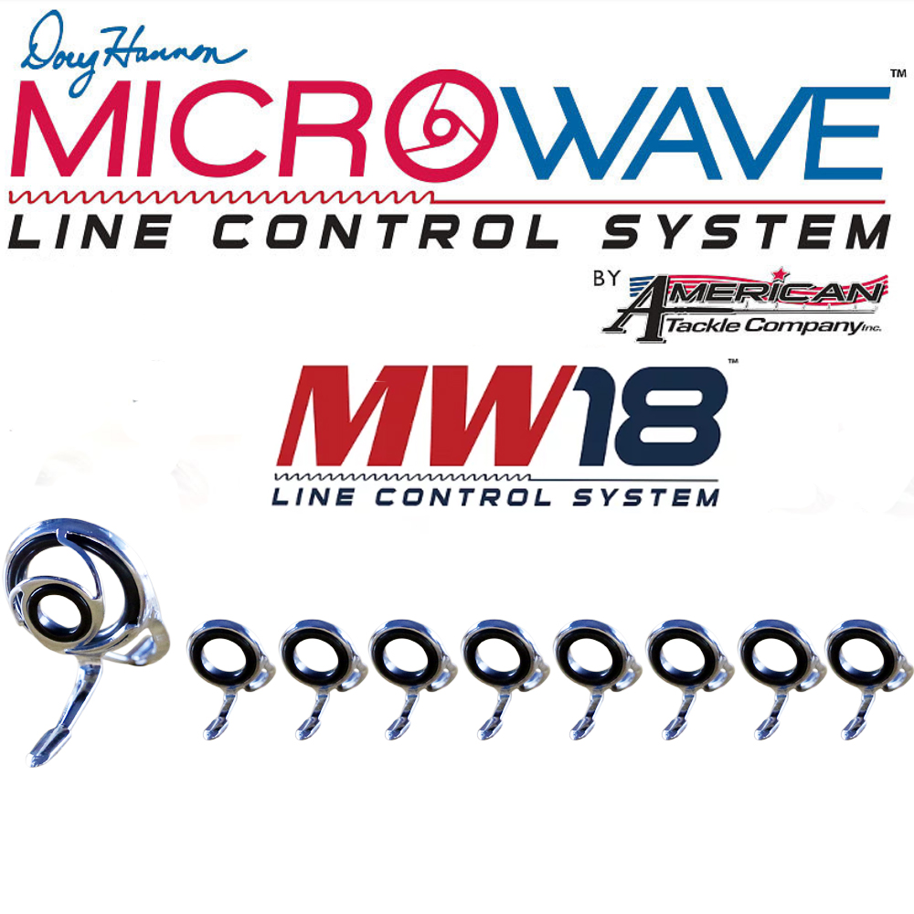 American Tackle Company 9pcs set MicroWave 18 Line Control System Casting Guide Set Kit DIY Rod