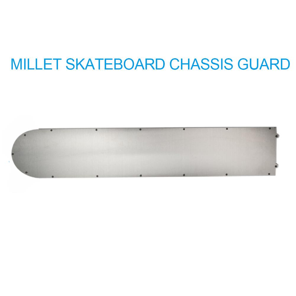 Image 3 - For Xiaomi Mijia M365 Scooter Bottom Battery Cover anti collision Plate Guard Chassis Stainless Armor Safer Scooter Parts-in Skate Board from Sports & Entertainment