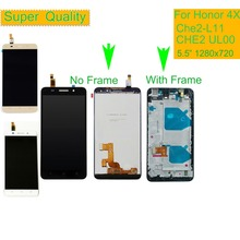 10Pcs/lot Display For HUAWEI Honor 4X Touch Screen with Frame for HONOR LCD Replacement Che2-L11 CHE2 UL00