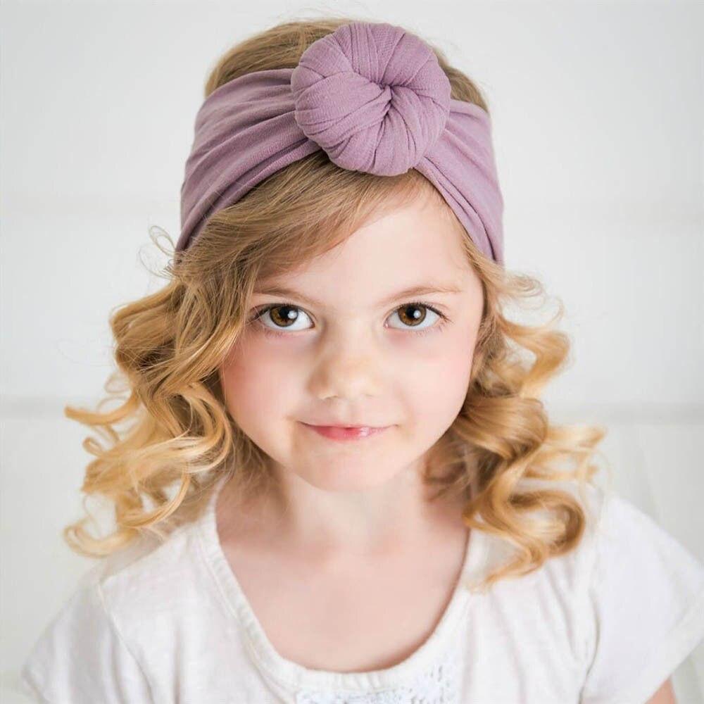 New Toddler Girl Kid Baby Big Ball Hairband Headband Stretch Turban Head Wrap