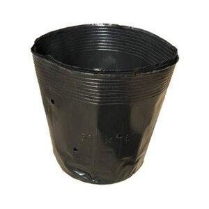 Image 2 - 100 adet küçük Mini toprak saksı kil seramik çömlek ekici kaktüs saksı etli kreş tencere siyah ev bahçe dekor