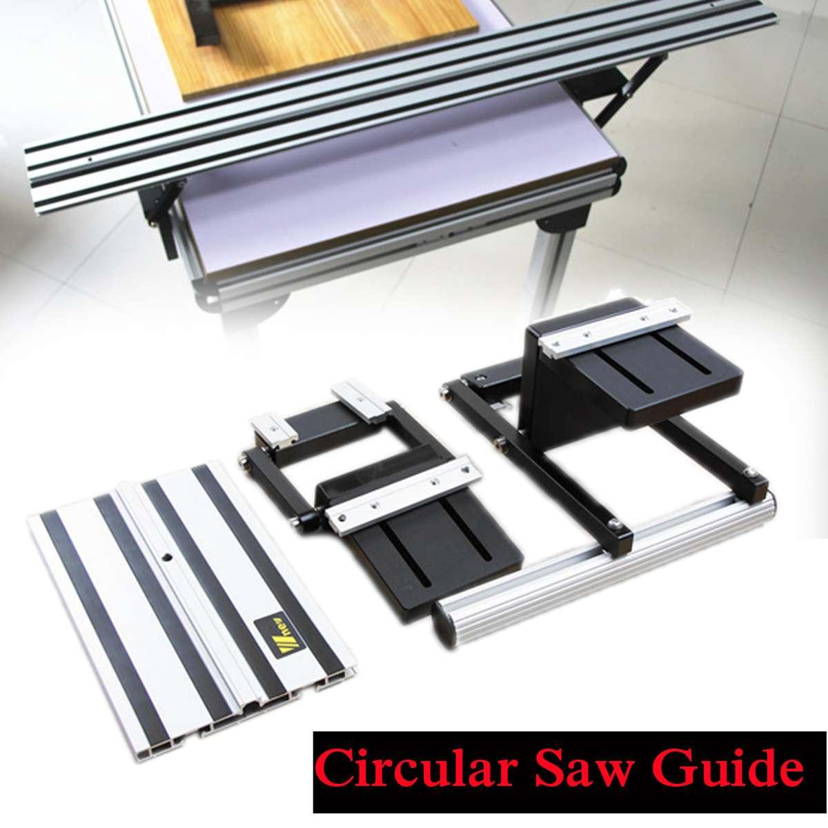 Drillpro ensemble de Guide de scie circulaire électrique sans Rail accessoires de levage outil de travail du bois