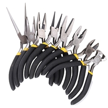 8 adet/takım takı pense İğne yuvarlak Bent burun boncuk yapımı Diy el sanatları aracı kiti