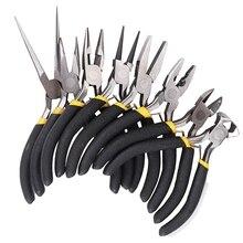 8 pçs/pçs/set jóias alicate agulha redonda curvado nariz beading fazendo diy kit de ferramentas artesanato