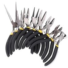 8 sztuk/zestaw biżuteria szczypce igły okrągłe wygięte nos frezowanie dokonywanie Diy zestaw narzędzi rzemieślniczych
