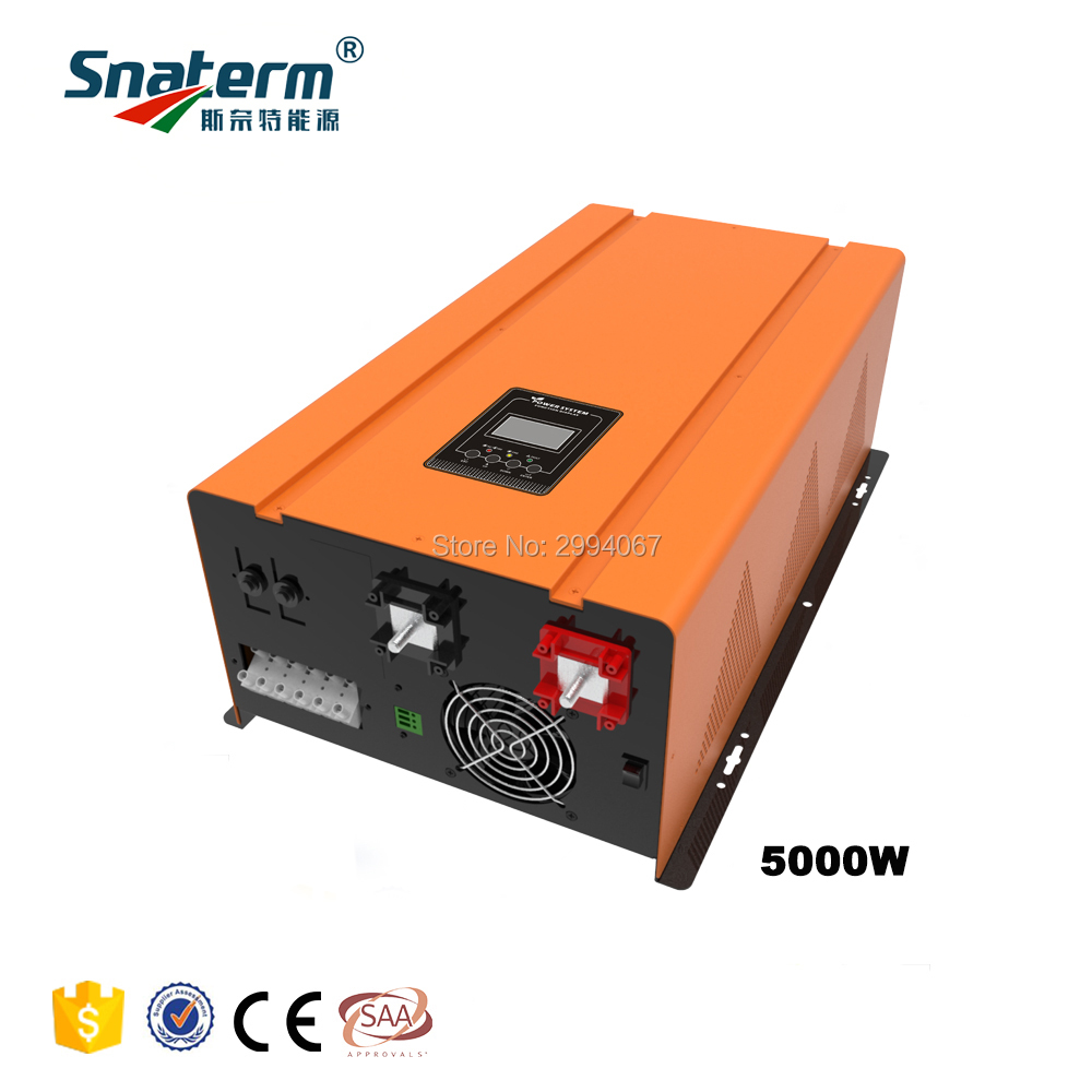 5KW Pure sine wave Combined Inverter Charger 15KW Surge Power DC24 48V to AC220V 50HZ UPS