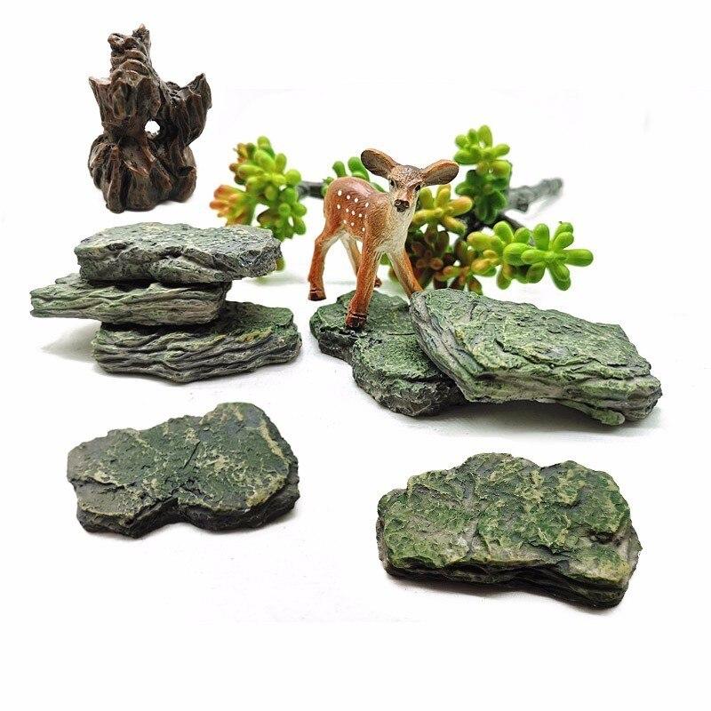 Искусственный камень, горный холм, модель фигурки, ремесло, миниатюрное украшение для сада в виде Феи, аквариумное украшение, DIY аксессуары|Статуэтки и миниатюры| | - AliExpress