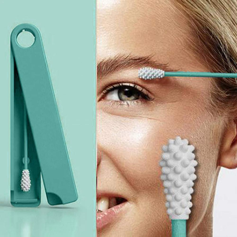 Reusable Cotton Swab Ear Cleaning Cosmetic Cotton Buds Silicone Swabs For Cleaning Makeup And Touch Ups