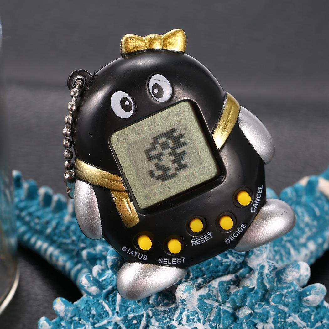 Child Keychain Electronic Tamagotchi Virtual Tiny Pet Classic Toy Child Adult Penguin Shape Game Machine Random Color