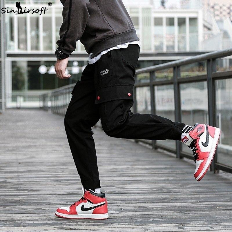 Men's Clothing Sinairsoft Man Elastic Waist Loose Japanese Streetwear Multi Pocket Casual Cargo Pants Men High Street 2019 Hip Hop Sweatpants Pants