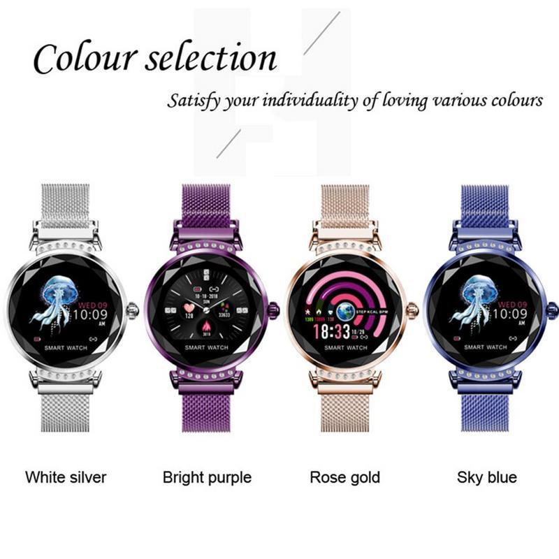 Presente do Dia dos Namorados Nova Moda Relógios Inteligentes h2 Mulher Pressão Arterial Esporte Pulseira Relógio Inteligente Pedômetro Smartver 2019