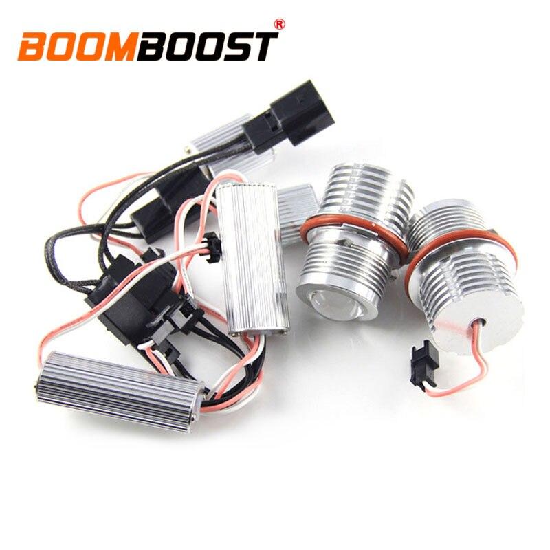 Nouveau 2X60 W 12 V indicateur LED Yeux D'ange Pour BMW E87 E60 E63 E65 E66 X5 E53 E3 ampoule lampe lumière