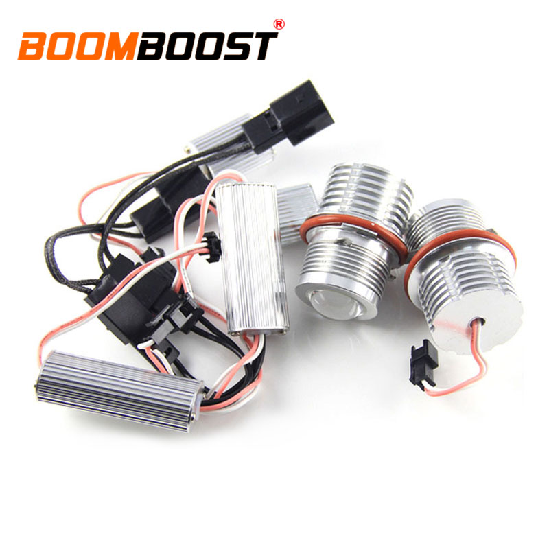 new coming 2X60W 12V LED Marker Angel Eyes For BMW E87 E60 E63 E65 E66 X5 E53 E3 bulb lamp light