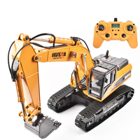 RC Hydraulic Excavator Kids Car Toys 23 Channel Construction Remote Control Truck Autos Remote Excavator Engineer Truck Car