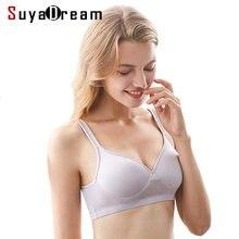 8c18c6b9d3 Women SILK Bras Wireless Bralette Seamless Bra invisible 100% REAL silk  lingerie deporte sujetador reggiseno