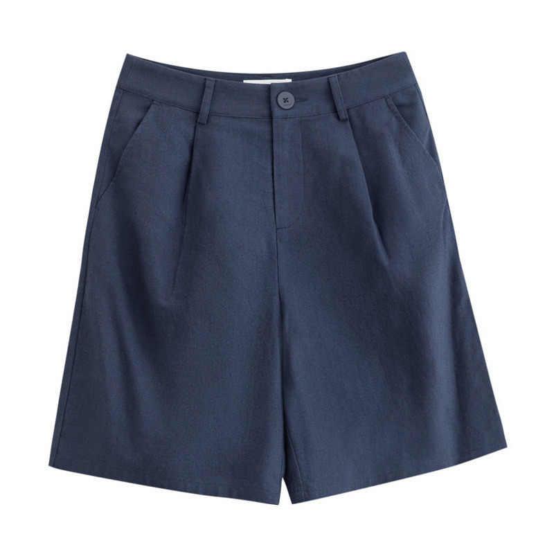 INMAN 2019 lato nowy nabytek jednolity pościel bawełniana średniej talii minimalizm wszystko dopasowane literackie na co dzień kobiety krótkie spodnie