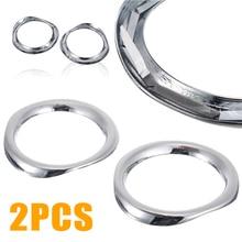 For Toyota CHR C-HR 17-18 2pcs High Quality ABS Chrome Front Fog Light Lamp Cover Trim Mayitr