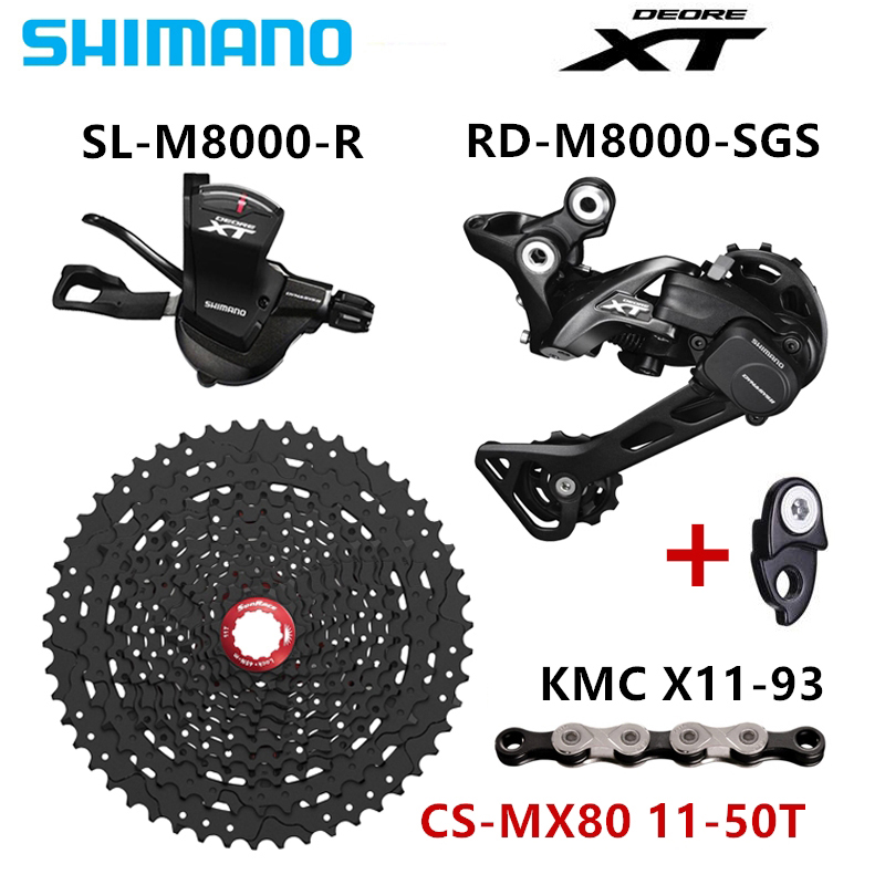 SHIMANO DEORE XT M8000 Groupset MTB Mountain Bike 1x11 Speed 46T 50T SL RD CSMX80 X11