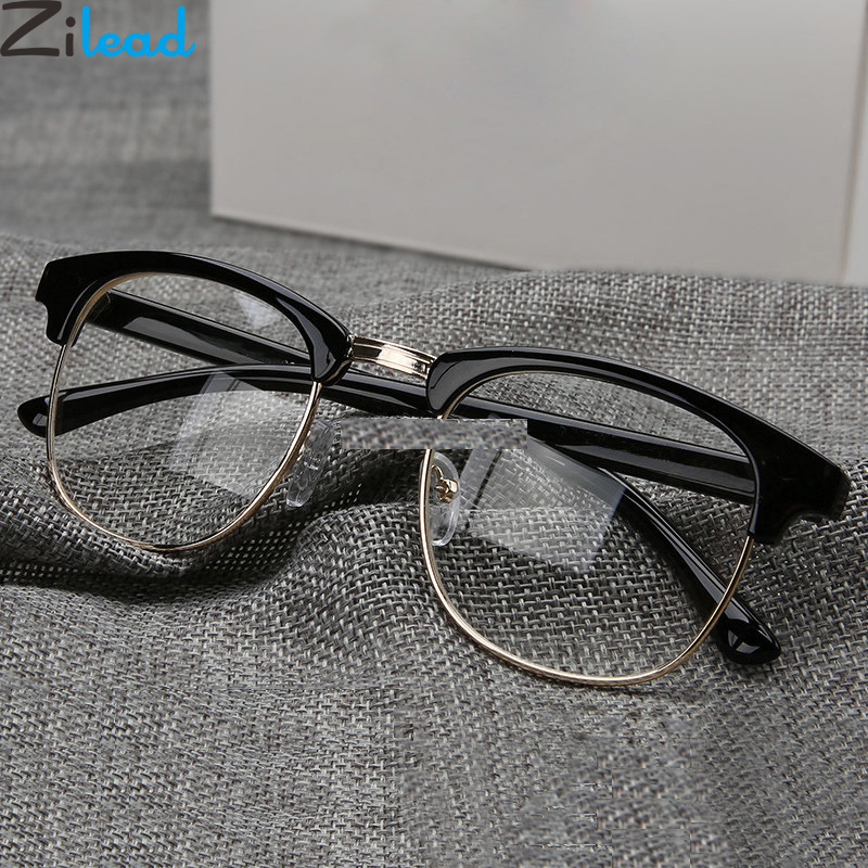 Zilead Classic Half Frame Finished Myopia Glasses For Women&Men  Metal Nearsighted Eyelasses Shortsighted Eyewear -1.0to-6.0