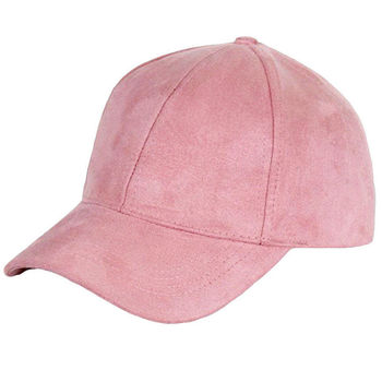 Fashion Women Girls Chic Suede Baseball Cap Solid Sport Visor Hats Adjustable 6