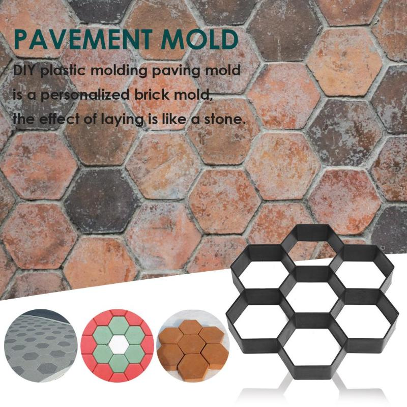 Garden Walk Pavement Mold DIY Manually Paving Cement Brick Stone Road Concrete Molds Path Maker DIY Road Concrete Molds